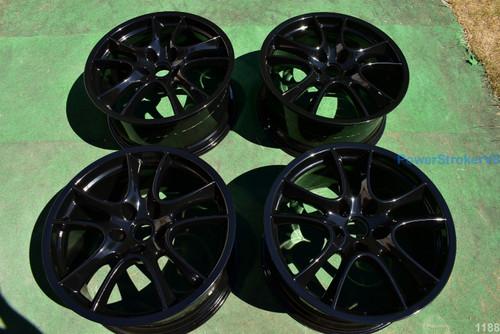 "21"" Porsche Cayenne Turbo GTS OEM Factory Genuine Wheels Black"