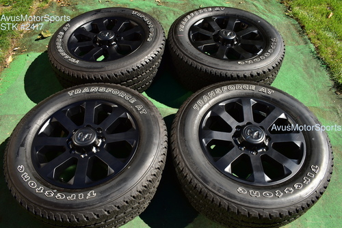 "20"" Dodge Ram Night Edition OEM Factory Black Wheels Tires 2500 3500 2019 2020"