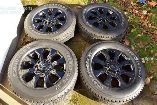 "20"" Dodge Ram Limited Black Edition OEM Factory Wheels Tires 2500 3500 2019 2020"