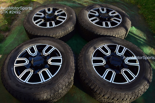 "20"" GMC Sierra 2500 3500 AT4 OEM Black FACTORY WHEELS Chevy Silverado 2020"