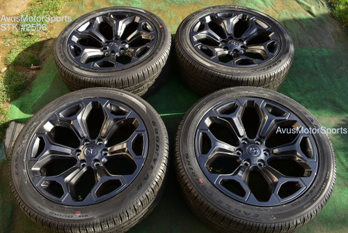 "22"" Dodge Ram 1500 Limited OEM 2020 Black Factory Wheels Genuine tires Night Ed"