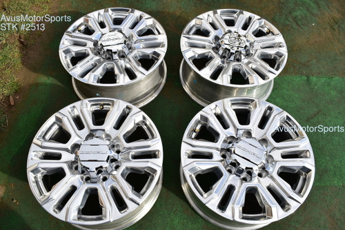 "20""  GMC Sierra Denali 2500 3500 HD OEM FACTORY Polished WHEELS Chevy Silverado"