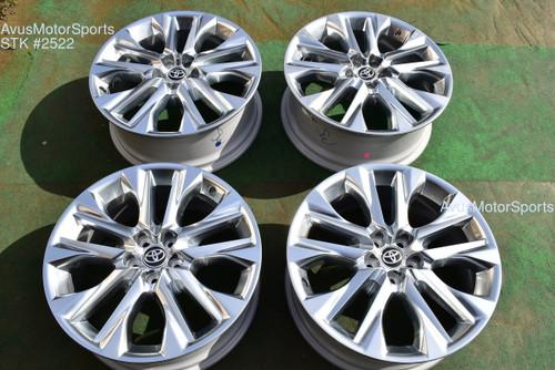 """20"""" Toyota Highlander Limited OEM Factory Platinum Clad Wheels 4260D0E030 2021 oem2522"""