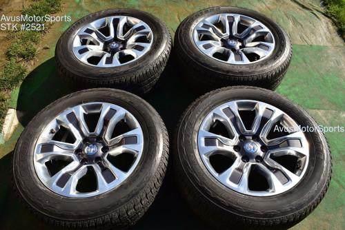 """20"""" Dodge Ram Long Horn OEM Factory Polished Wheels 1500 Genuine 2020 tires"""