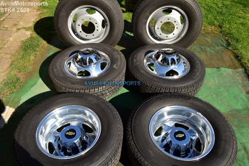"17""  Chevy Silverado 3500 OEM Dually Alloy WHEELS TIRES GMC Sierra 2020 DRW"