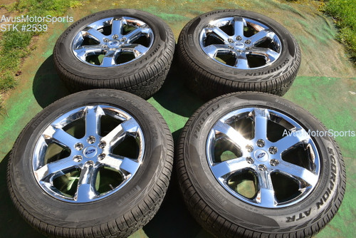 """20"""" Ford F150 OEM Factory FX4 Lariat Chrome PVD Wheels Tires Expedition 2021"""
