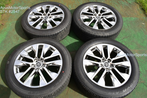 "19"" Toyota Rav4 Limited OEM Factory Wheels Tires 235/55r19 2021"