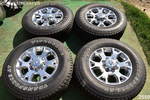 "18"" Dodge Ram Laramie OEM Factory Polished Wheels A/T Tires  2500 3500 2020 2019"