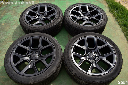"22"" Dodge Ram Laramie OEM Factory Night Edition black Wheels 1500 Genuine 2020"
