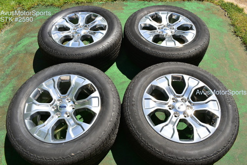 """20"""" Ford F150 Platinum OEM Factory Wheels Tires Expedition Polished 2021 2020"""