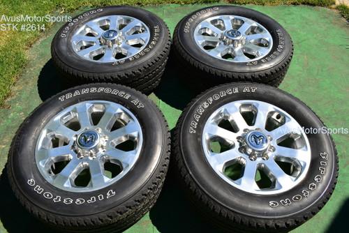 """20"""" Dodge Ram 2500 3500 Polished OEM Factory Wheels Tires 2020 2021 oem2614"""