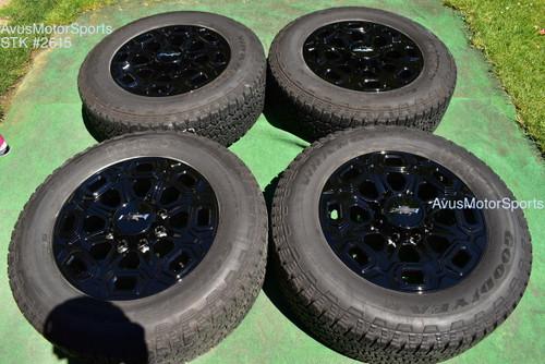 "20"" Chevy Silverado 3500 2500 OEM High Country FACTORY Black WHEELS GMC Sierra"