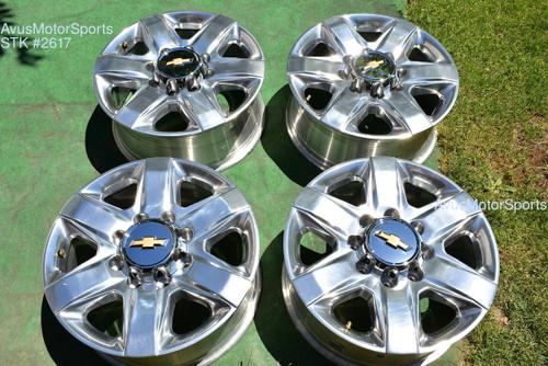 """20"""" Chevy Silverado 2500 3500 OEM Polished LTZ FACTORY WHEELS GMC Sierra 2021"""