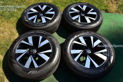 "18"" Volkswagen Atlas Cross Sport Factory OEM Wheels & 245/60r18 Tires 2021 VW"