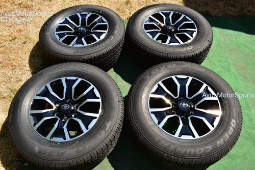 "17"" TOYOTA TACOMA OEM FACTORY TRD SPORT WHEELS & Tires 4runner Tundra 2021"