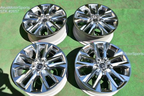 """20"""" Toyota Highlander Limited OEM Factory Platinum Clad Wheels 4260D0E030 2021  oem2657"""