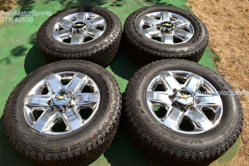 "20"" Chevy Silverado 2500 3500 OEM High Country FACTORY WHEELS GMC Sierra 2021 oem2636"