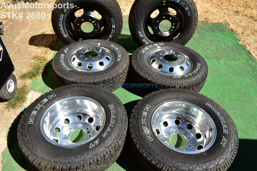 "17"" Dodge Ram 3500 OEM Factory Dually Alloy Wheels AT Tire Laramie DRW 2021 2020"