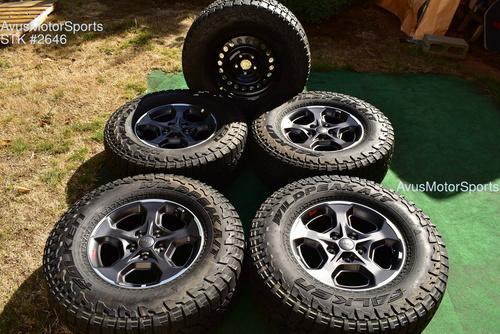"17"" Jeep Gladiator Rubicon OEM Wheels A/T Tires Wrangler JL JK JT 2020 + Spare"
