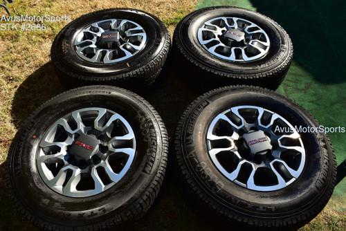 "18"" GMC Sierra 2500 3500 AT4 OEM WHEELS TIRES Chevy Silverado 2021 Michelin"