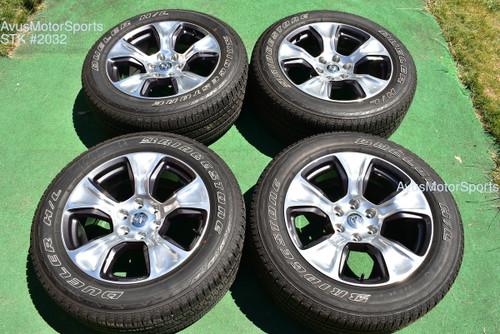 "20"" Dodge Ram Laramie OEM Factory Polished Wheels 1500 Genuine 2019 tires"