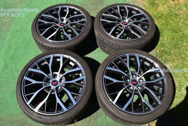 "19"" Subaru WRX STI OEM Factory Charcoal Polished Wheels Tires 2020 5x114 5x4.5"