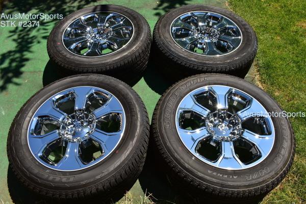 "20"" Dodge Ram Laramie OEM Factory Chrome Clad Wheels 1500 Genuine 2020 tires"