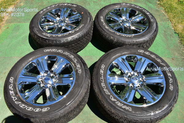 """20"""" Ford F150 OEM Factory Chrome PVD Wheels Expedition 2019 2018 Lariat Tires"""