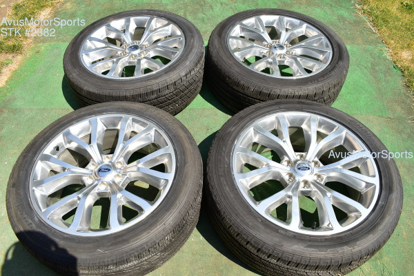 """22"""" Ford Expedition Platinum MAX OEM Factory Wheels Tires F150 2020 2019 TPMS"""