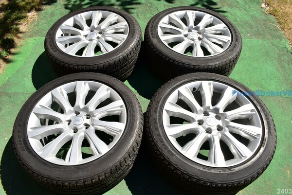 "21"" Range Rover Factory OEM Wheels Tires 2017 2016 Land Silver Genuine"