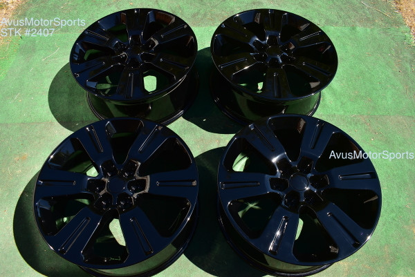 "22"" Ford F150 Limited OEM Factory Wheels Expedition Gloss Black 2016 20172018"