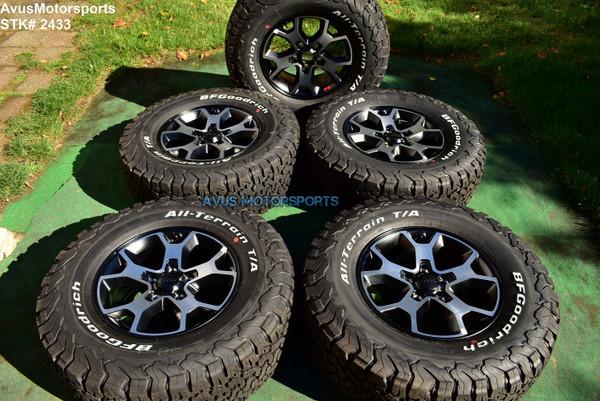 "17"" Jeep Wrangler Rubicon JL JK OEM Mopar Factory Wheels Tire 2020 Gladiator"
