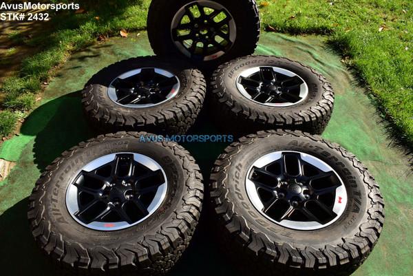 "17"" Jeep Wrangler Rubicon JL JK OEM Optional Factory Wheels Tires Gladiator 2020"