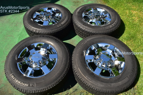 "18"" GMC Sierra Denali 2500 3500 OEM WHEELS TIRES Chevy Silverado chrome 2019"