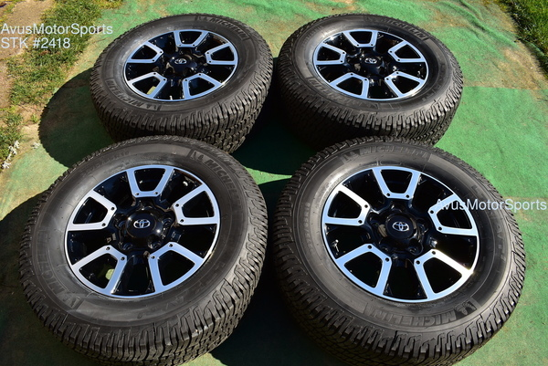 "18"" Toyota Tundra Off Road OEM Factory Wheels Tires TRD offroad Sequoia + TPMS 2418"