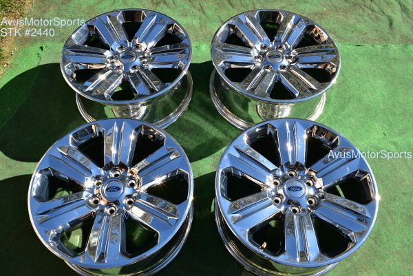 "20"" Ford F150 OEM Factory Chrome PVD Wheels Expedition 2019 2020 Lariat"
