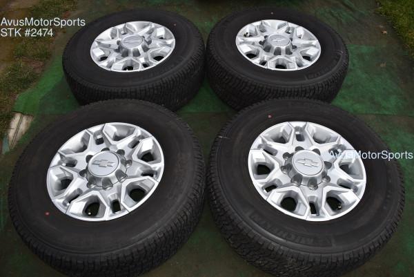 "18"" Chevy Silverado 2500 3500 OEM WHEELS TIRES GMC Sierra 2020 Michelin oem2474"