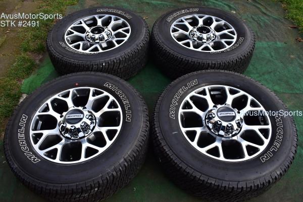 "20"" Ford F350 Super Duty Lariat OEM Factory Polished Wheels F250 2019 2020"