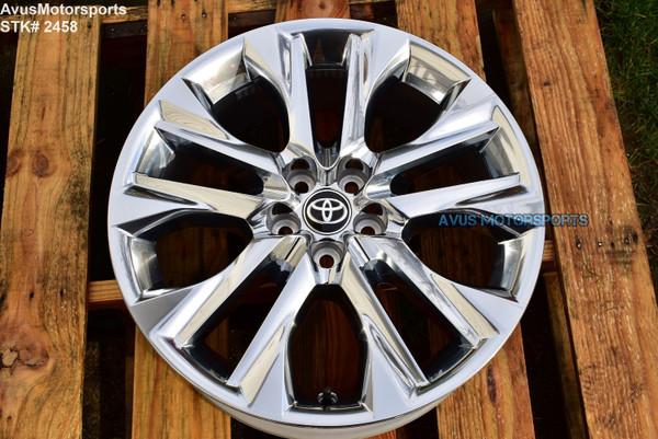 "20"" Toyota Highlander Limited OEM Factory Platinum Clad Wheels 4260D0E030 2021"
