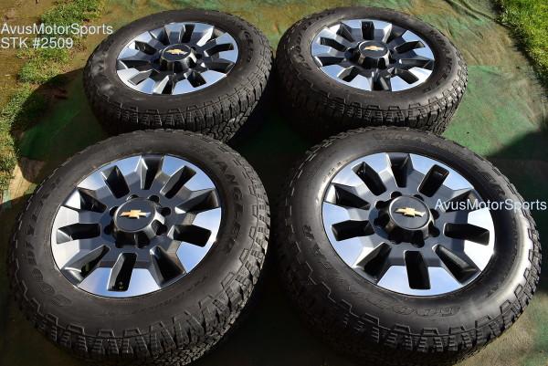 "20"" Chevy Silverado 2500 3500 HD OEM LT FACTORY WHEELS GMC Sierra 2021 gray"