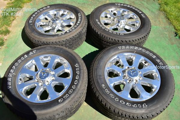 """20"""" Dodge Ram 2500 3500 Polished OEM Factory Wheels Tires 2020 2021"""