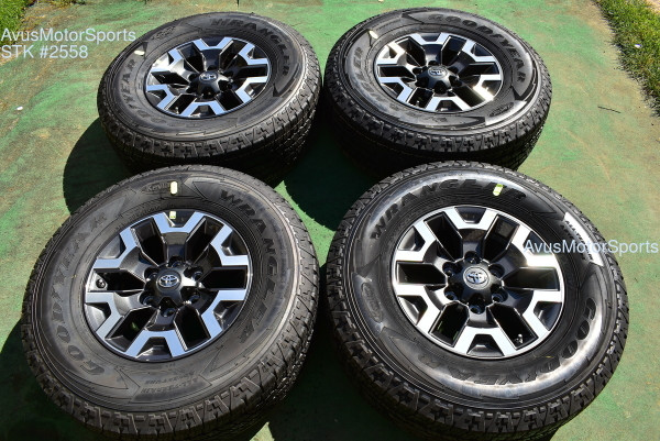 """16"""" TOYOTA TACOMA OEM FACTORY TRD OFFROAD WHEELS Tires 4runner Tundra 2021 TPMS"""