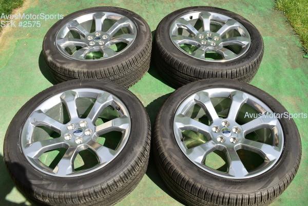 """21"""" Ford Explorer Platinum OEM Factory Polished Wheels 275/45r21 Tires TPMS 2020"""