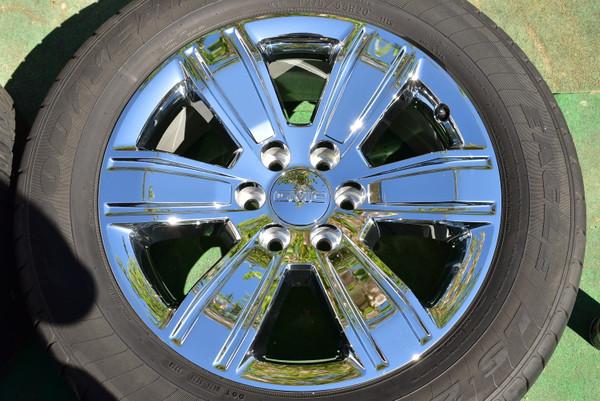 "20"" GMC Sierra 1500 OEM FACTORY Genuine Chrome Clad WHEEL Yukon 23220753 oem2567b"