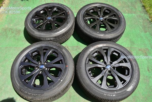 "18"" Subaru Forester OEM Factory Sport Black Wheels  225/55R18 Tires 2021 5x114"