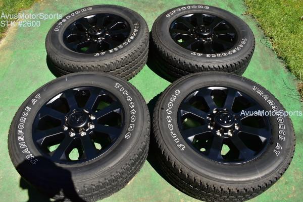 "20"" Dodge Ram Night Edition OEM Factory Black Wheels Tires 2500 3500 2021 2020 oem2600"