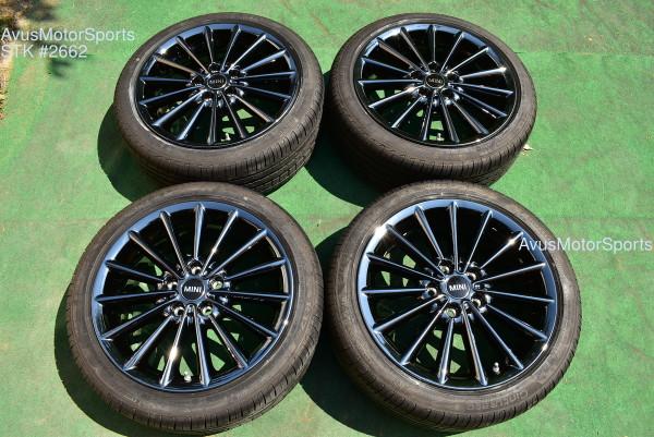 """17"""" Mini Cooper F54 F55 F56 F57 Clubman Factory Black OEM Wheels + Runflat tires"""
