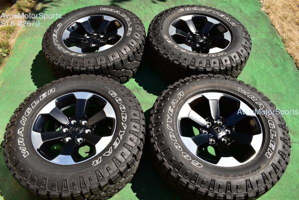 "18"" Dodge Ram 1500 REBEL OEM Factory Wheels Goodyear LT275/70R18 2020 2021"