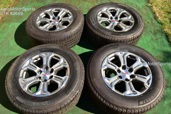 """18"""" GMC Sierra 1500 OEM FACTORY Polished WHEELS TIRE Yukon TAHOE SILVERADO chevy"""