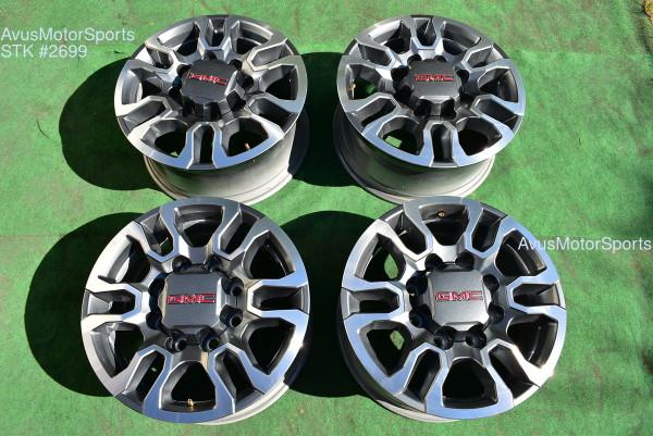 """18"""" GMC Sierra AT4 2500 3500 HD OEM FACTORY Polished WHEELS Chevy Silverado"""